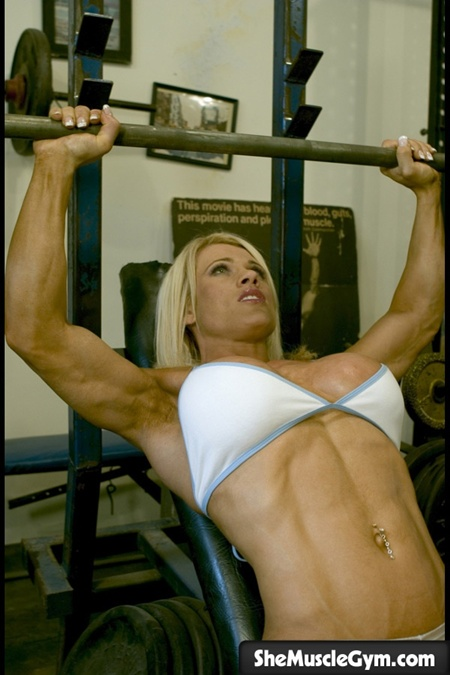 melissa on the bench press