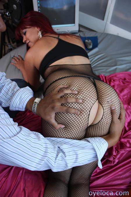 hot latina in black stockings