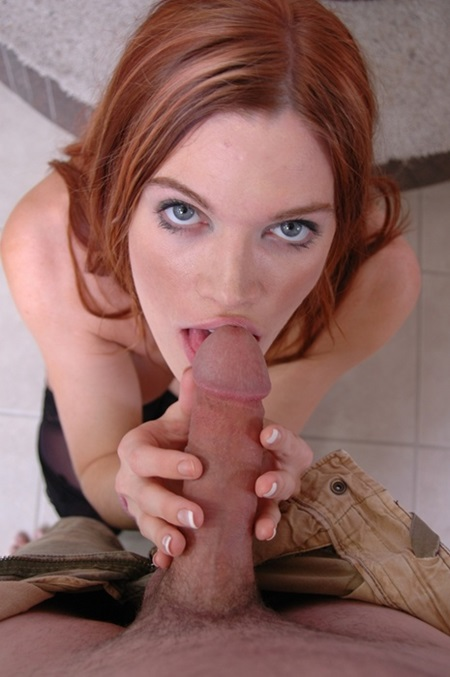 Pov Blowjob Hot redhead slut gives a <b>pov blowjob</b> on her knees  <b>xxx</b> hub